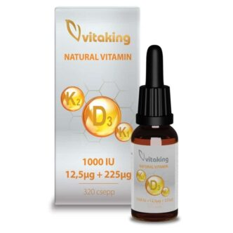 Vitaking D3-K2-K1 vitamin csepp MCT olajjal - 10ml