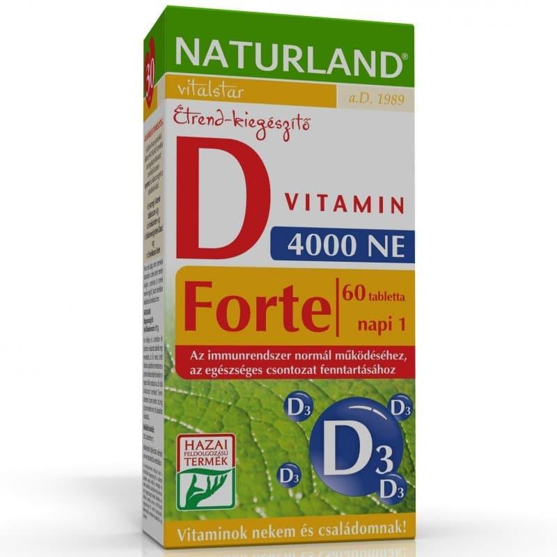Naturland D-vitamin forte tabletta - 60db