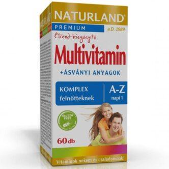 Naturland Multivitamin komplex felnőtteknek A-Z-ig tabletta - 60db