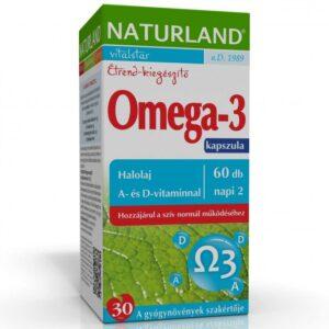 Naturland Omega-3 Halolaj kapszula - 60db