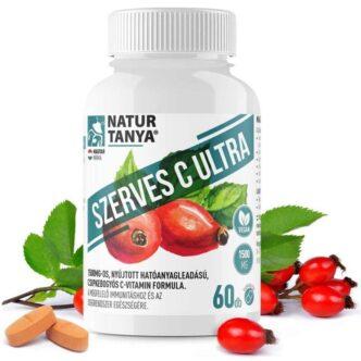 Natur Tanya Szerves C Ultra Retard C-vitamin 1500mg csipkebogyó kivonattal - 60db