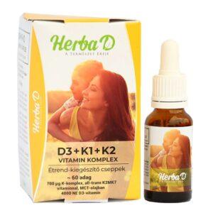 Herba-D D3+K1+K2 vitamin csepp - 20ml