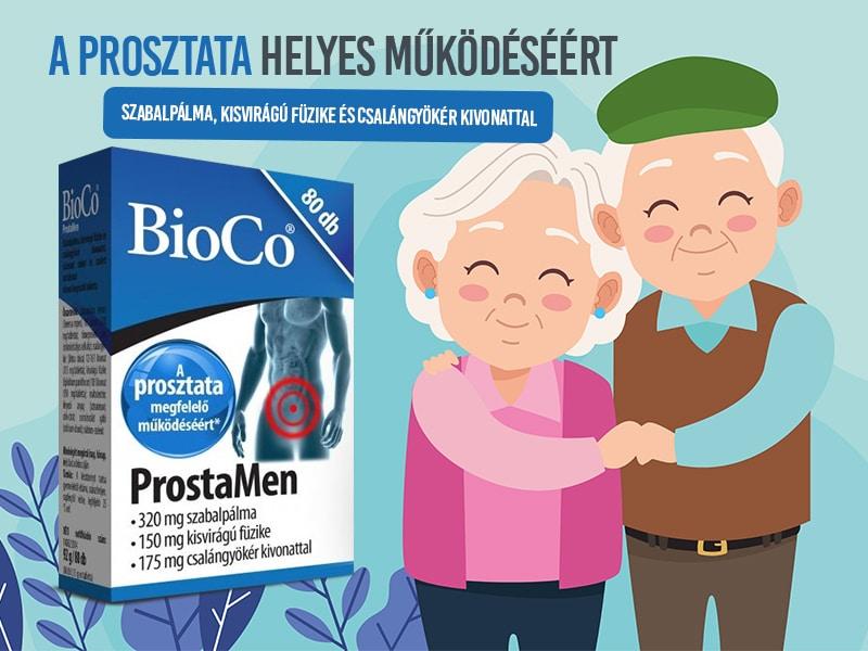 A BioCo ProstaMen hatóanyagai hozzájárulhatnak a prosztata egészségének megőrzéséhez