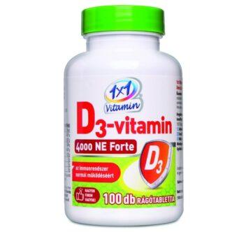 1x1 Vitamin D3-vitamin 4000NE Forte rágótabletta - 100db