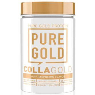 Pure Gold CollaGold Marha és Hal kollagén italpor hialuronsavval málna - 300g