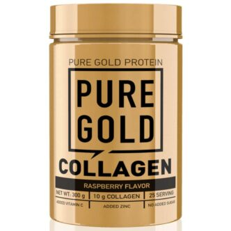 Pure Gold Collagen Marha kollagén italpor málna - 300g