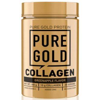 Pure Gold Collagen Marha kollagén italpor zöldalma - 300g