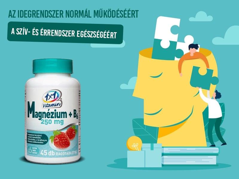 1x1 Vitamin Magnézium + B6-vitamin hozzájárul az egészséges, kiegyensúlyozott idegrendszerhez