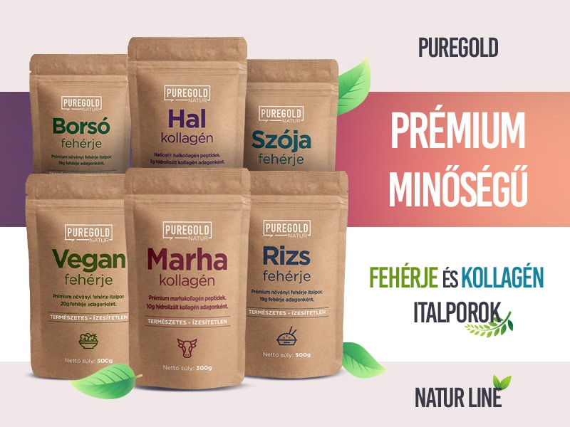 Pure Gold Natur Line protein és kollagén termékekkel támogassa izmai fejlődését és bőre rugalmasságát