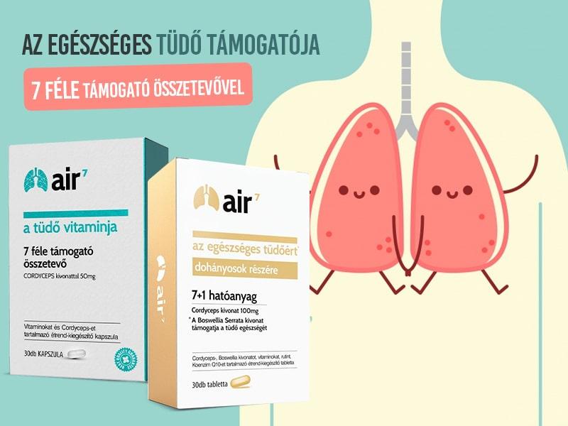 Air7 vitaminnal támogassa célzottan tüdeje egészségét!
