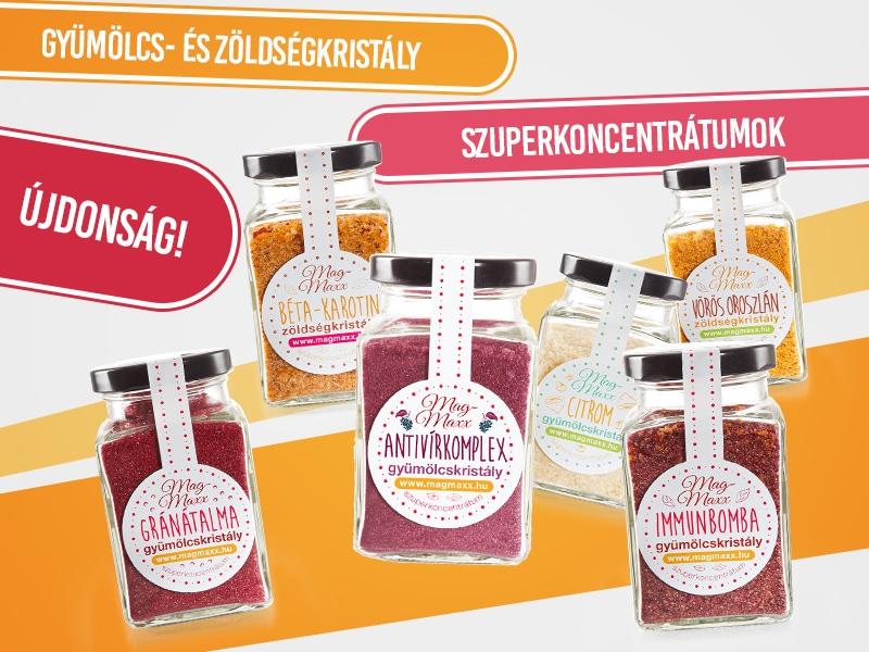 A MagMaxx szuperkoncentrátumokban 100%-os a gyümölcsök és zöldségek tápértéke!