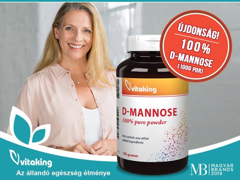 A Vitaking D-mannose porral szabaduljon meg a visszatérő felfázástól!