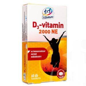 1x1 Vitamin D3-vitamin 2000NE filmtabletta - 60db