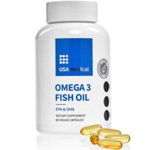 USA Medical Omega-3 Halolaj lágyzselatin kapszula - 60db
