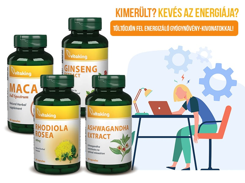 Használja ki a Vitaking energetizáló gyógynövényeinek kivételes erejét!