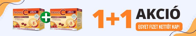 Egyet fizet kettő kap! Novo C Plus liposzómás C-vitamin kapszula 1+1 akció