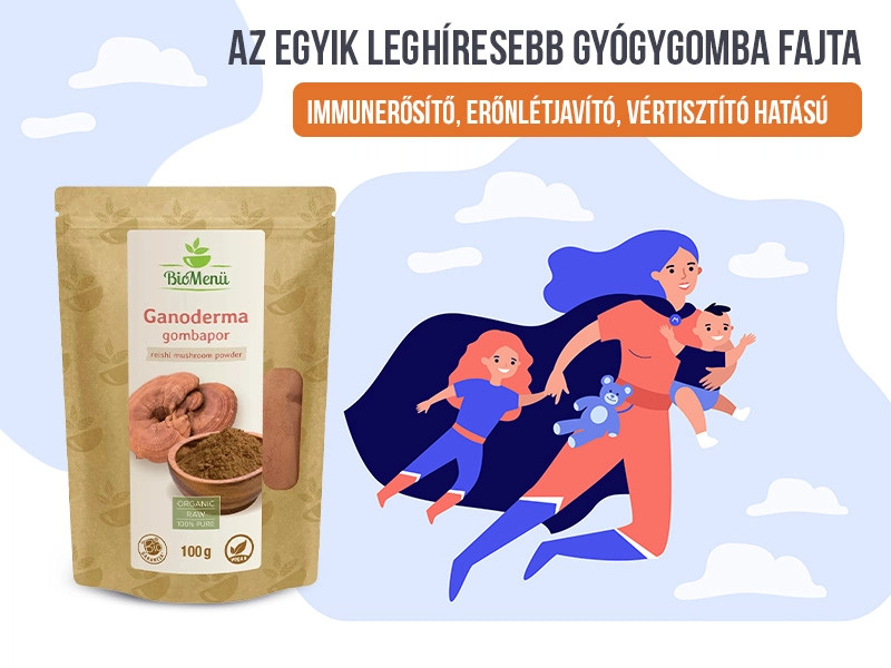 Erősítse immunrendszerét a Biomenü Bio Ganoderma gombával!