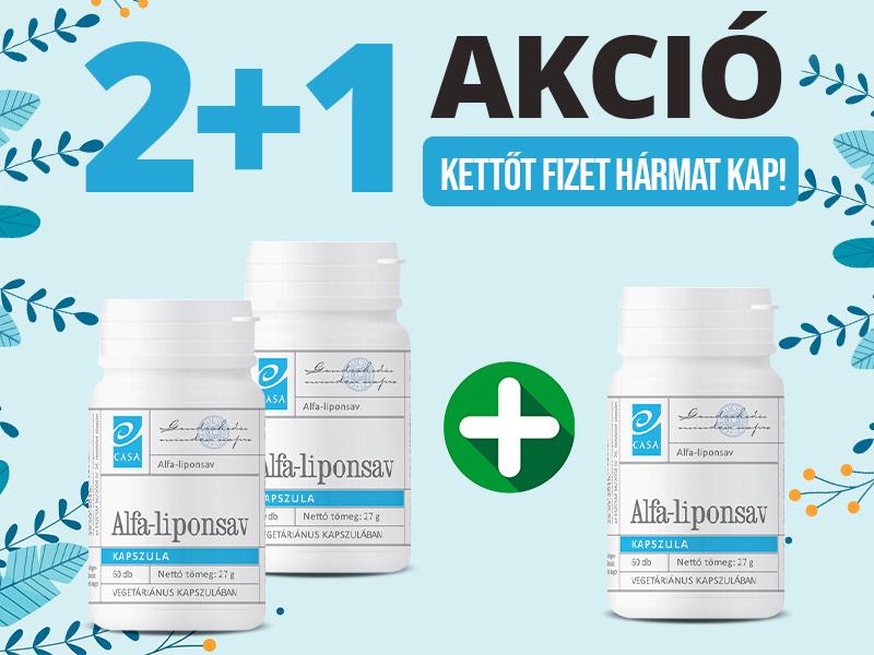 2+1 Akció! A Casa Alfa-Liponsav erősantioxidáns, így hatékony védelmet képes biztosítani a sejteknek!