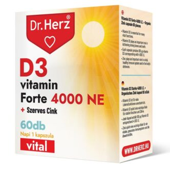 Dr. Herz D3-vitamin Forte 4000NE + Szerves Cink kapszula - 60db