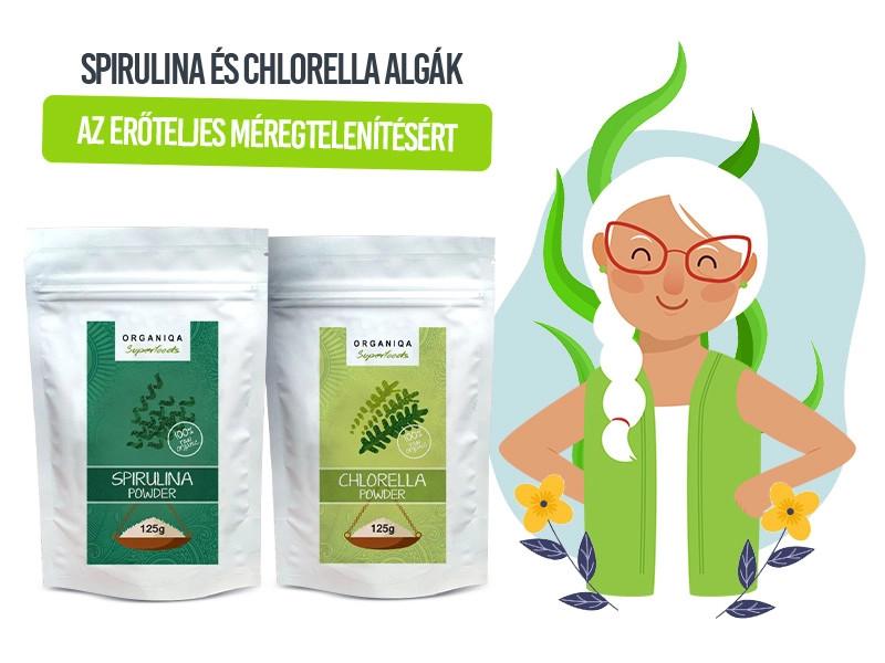 Az Organiqa Bio Spirulina és Chlorella alga kiváló méregtelenítők!